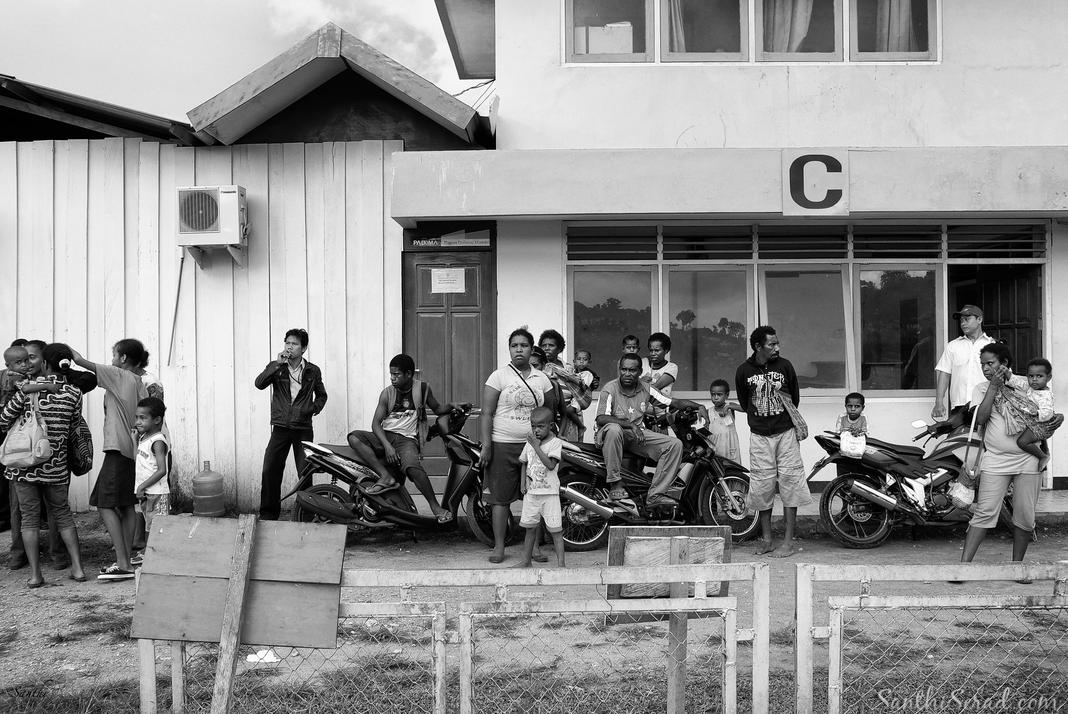 Waiting at Rendani Airport, Manokwari 2012