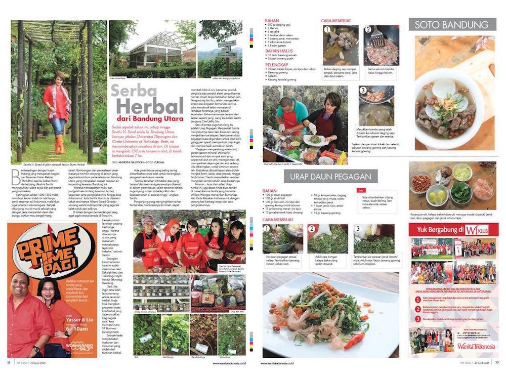Artikel kegiatan di Bumi Herbal Dago oleh Tabloid Wanita Indonesia