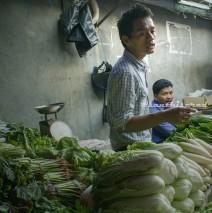 Pasar Lama Tangerang: Sayuran Hijau