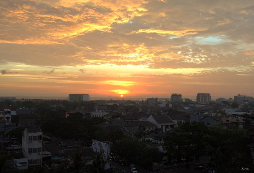 Sunset in Makassar